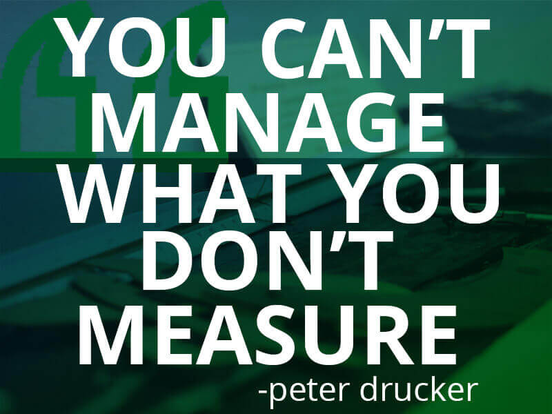 You Can't Manage What You Don't Measure